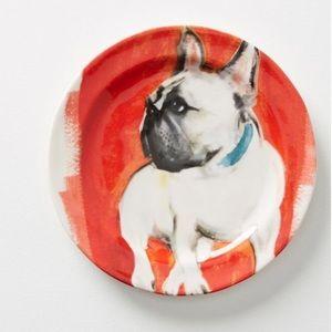Anthropologie Bulldog Plate-NIB-Frenchie Plate